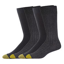 Gold Toe 4 Pair Rib Crew Dress Sock