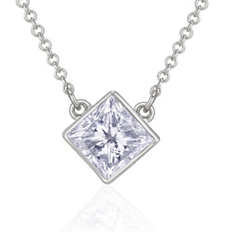 .33 ct. Princess Diamond Solitaire Pendant (H-I, I1)