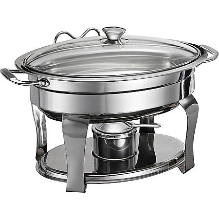 Gourmet Collection 4.2 Qt. Oval Stainless Steel Chafing Dish