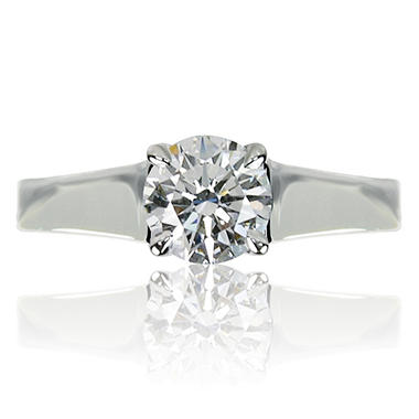 1.19 ct. Brilliant Round Cut Diamond Platinum Solitaire Ring (I, SI1)
