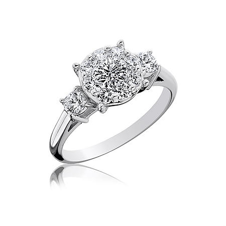 1.00 ct. t.w. Touch Setting® Three Stone Diamond Engagement Ring  (H-I, I1)