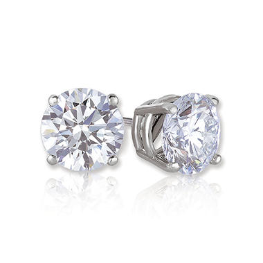 1.00 CT. T.W. Round Brilliant Lab-Grown Diamond Studs (I,VS2) set in 14K