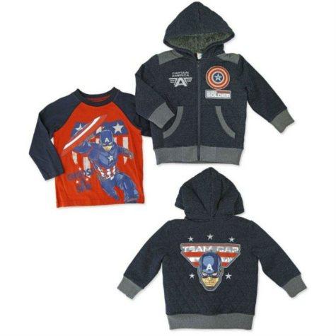 Boy's Captain America 2 Piece Jacket Set