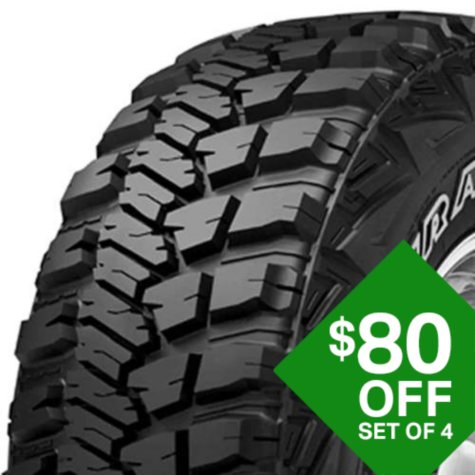 Goodyear Wrangler MT/R with Kevlar - 35X12.50R17C 111Q Tire