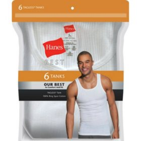 Hanes Best 6-Pack Tank (Assorted Colors)