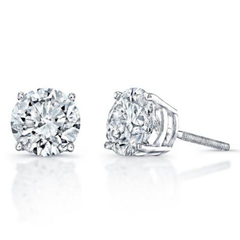 1.00 ct. t.w. Diamond Stud Earrings in 14K White Gold (H-I, SI2-I1)