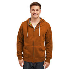 Eddie Bauer Men's Sueded Fleece Zip Front Hoodie (Assorted Colors)