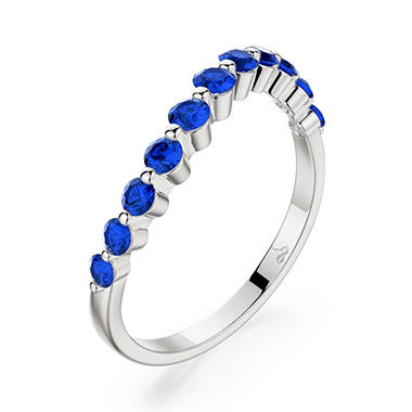 .76 CT. T.W. Tango Sapphire Ring in 14K White Gold