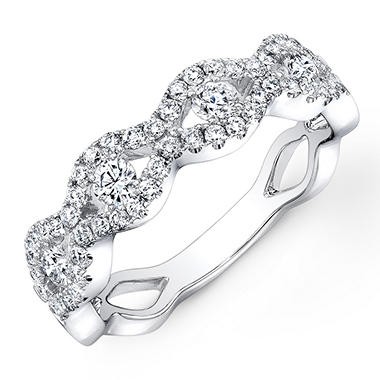 0.75 ct. t.w. Diamond Braided Band in 14K White Gold (G-H, VS2-SI1)