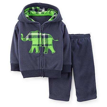 Carter's 2-Piece Boys Cardigan Set (Elephant)