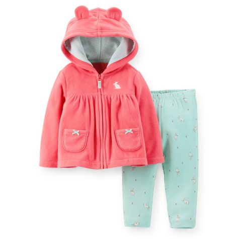 Carter's Girls 2-Piece Cardigan Set (Coral)