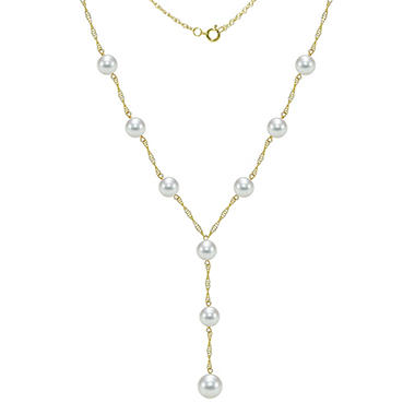 Akoya Cultured Pearl Station Necklace