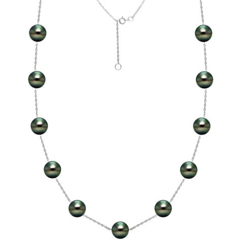 Tahitian Cultured Pearl Station Necklace