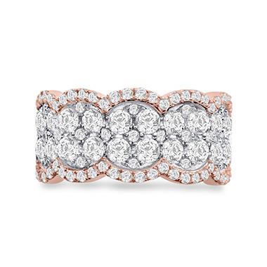 2.00 CT. T.W. Diamond Fashion Band in 14K Pink Gold