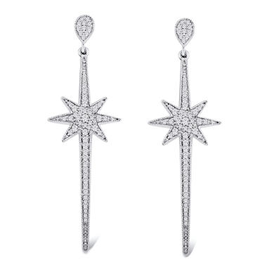 0.50 CT. T.W. Diamond Star Earrings in 14K Gold