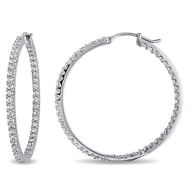 Allura 2 ct. t.w. Diamond Inside Outside Hoop Earrings in 14K White Gold