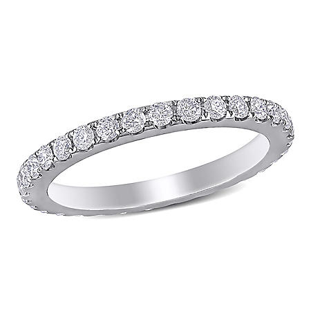 Allura 1.0 CT. T.W. Diamond Eternity Anniversary Ring in 14K White Gold