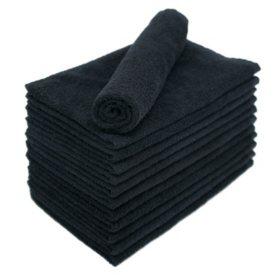 Bleachsafe® Salon Hand Towels - Black - 24 pk.