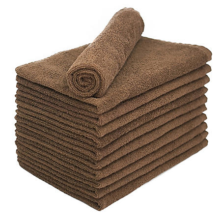 Bleachsafe Salon Hand Towels - Brown - 24 pk.