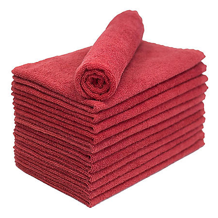 Bleachsafe® Salon Hand Towels, Red (24 pack)