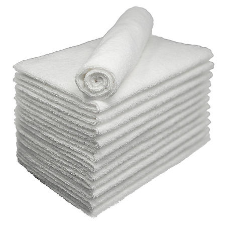 Bleachsafe Salon Hand Towels - White - 24 pk.