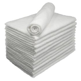 Bleachsafe® Salon Hand Towels - White - 24 pk.