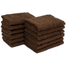 "Bleachsafe® 13""x13"" Wash Cloths - Brown - 24 pk."