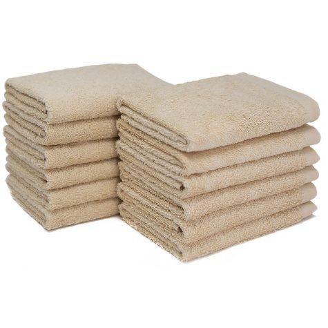 """Bleachsafe® 13""""x13"""" Wash Cloths - Tan - 24 pk."""