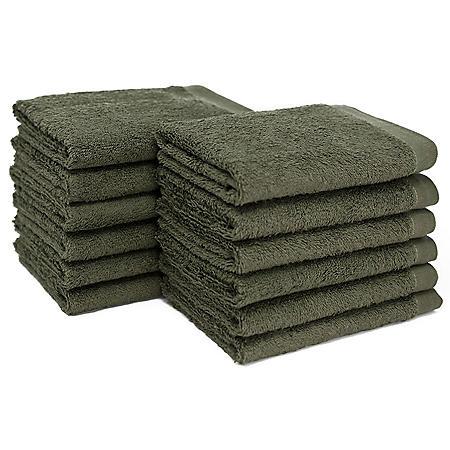 "Bleachsafe® 13""x13"" Wash Cloths - Green - 24 pk."
