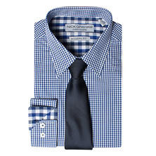 Nick Graham Men's Fitted Shirt & Tie Set