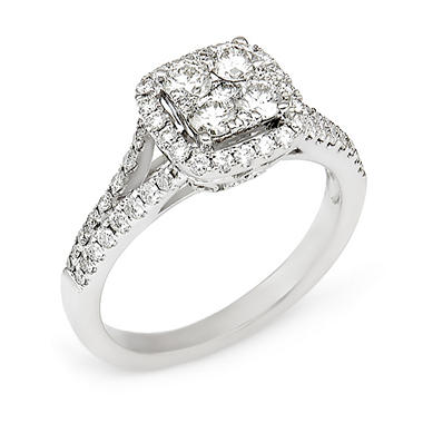 .95 CT. T.W. Diamond Composite Engagement Ring in 14K White Gold