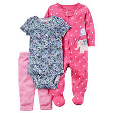 Carter's Girls' 3-Piece Baby Set with Pant