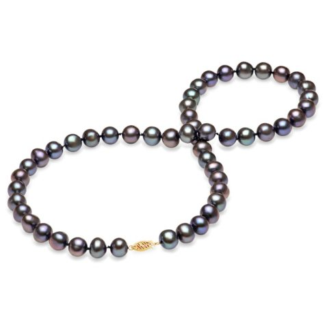 8-9 mm Black Freshwater Pearl Strand Necklace (Assorted Lengths)
