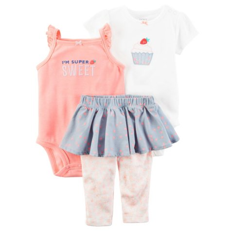 Carter's 3-Piece Bodysuit Pant Set