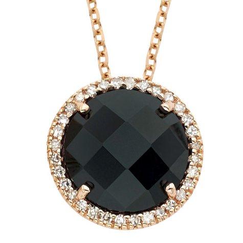 Black Onyx Diamond Pendant