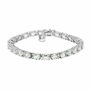 Sterling Silver White Topaz Bracelet