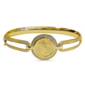 Vintage American Eagle Gold Bangle