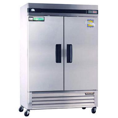 BlueAir 2-Door Stainless Steel Commercial Freezer - 49 cu. ft.