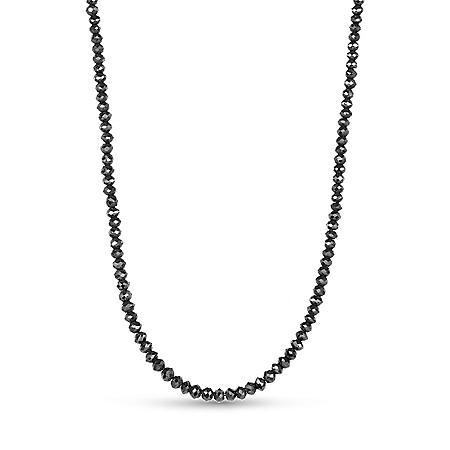 25 ct. t.w. Black Diamond Necklace in 14K White Gold