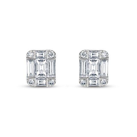 .40 ct. t.w. Diamond Earrings in 14K White Gold