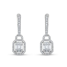 0.81 CT. T.W. Diamond Earrings in 14K White Gold