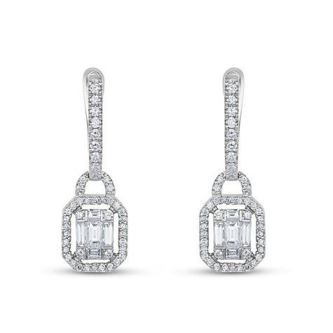 0.81 CT. T.W. Diamond Earrings in 14K White Gold