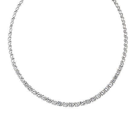 Lab White Sapphire Riviera Necklace