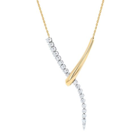 1.00 ct. t.w. Diamond Pendant in 14K Two-Tone Gold