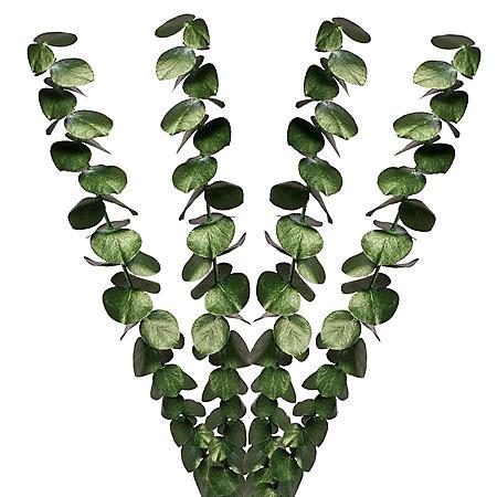 Painted Baby Blue Eucalyptus, Metallic Green (Choose 60 or 120 stems)