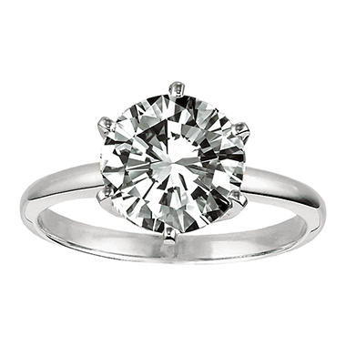 .34 ct. Diamond Solitaire Platinum Ring (F, VS1)