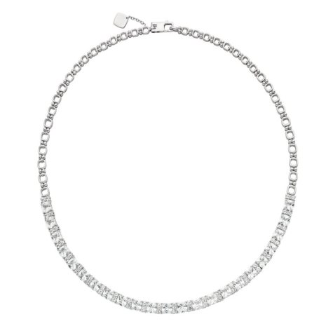 Created White Sapphire Necklace in Sterling Silver