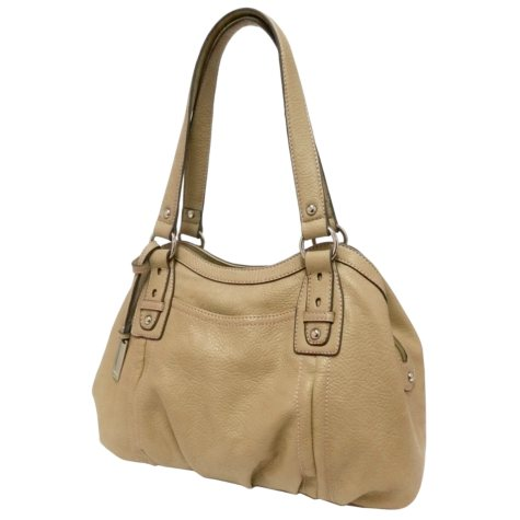 Ellen Tracy Satchel Bag - Beige