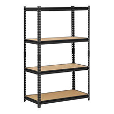 Edsal Heavy-Duty Black Steel 4-Level Shelving Unit