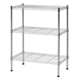 Sandusky 3-Level Chrome Wire Shelving System